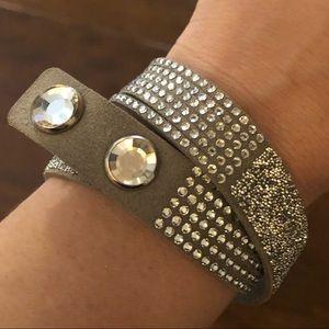Swarovski Crystal Reversible Band Bracelet